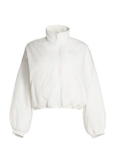 T by Alexander Wang Embroidered Zip Track Jacket