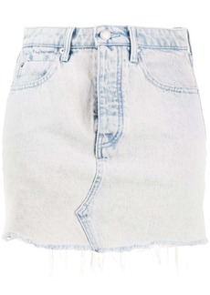 T by Alexander Wang faded denim shorts