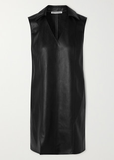 T by Alexander Wang Faux Leather Mini Dress
