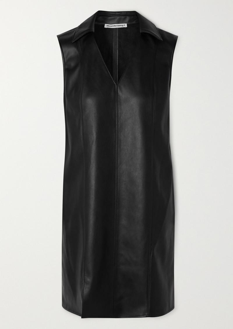 T by Alexander Wang Faux Leather Mini Dress