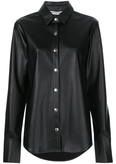 T by Alexander Wang faux-leather shirt