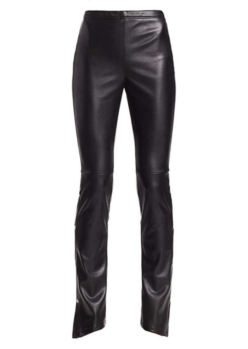 T by Alexander Wang Faux Leather Trousers