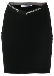 T by Alexander Wang fitted logo skirt