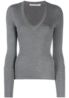 T by Alexander Wang fitted V top