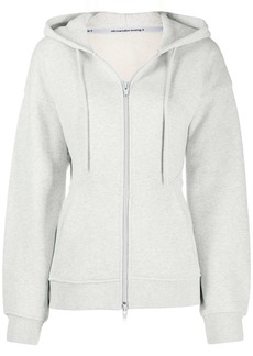 T by Alexander Wang fitted-waist zip-up hoodie