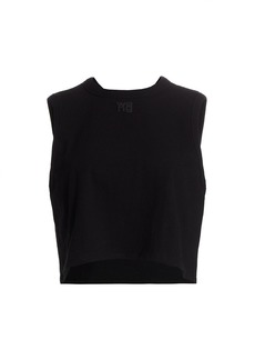 T by Alexander Wang Foundation Jersey Cropped Muscle Tee