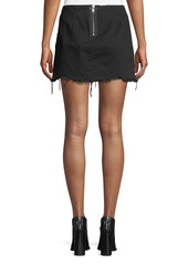 T by Alexander Wang Frayed Cotton Twill Mini Skirt