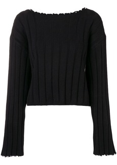 T by Alexander Wang frayed ribbed sweater