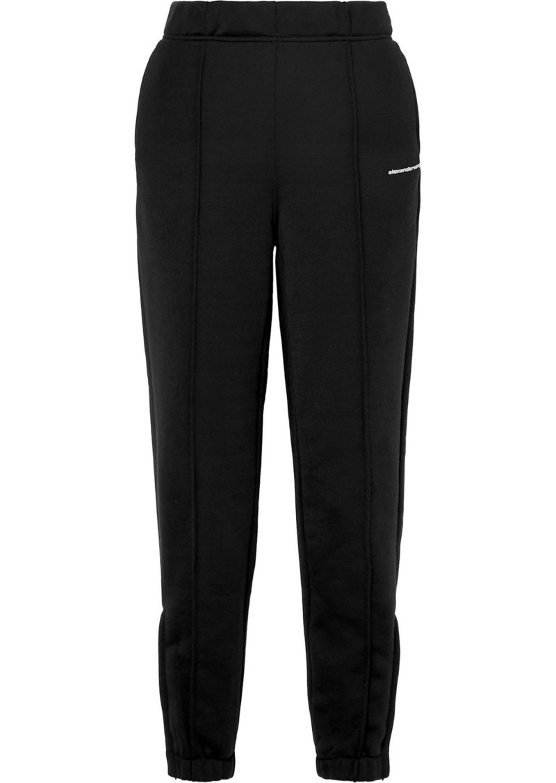T by Alexander Wang French Cotton-blend Terry Track Pants