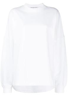 T by Alexander Wang French terry logo sweatshirt