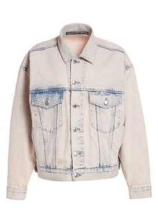T by Alexander Wang Game Acid Wash Denim Trucker Jacket