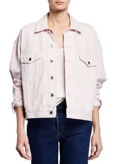 T by Alexander Wang Game Oversized Button-Front Denim Jacket