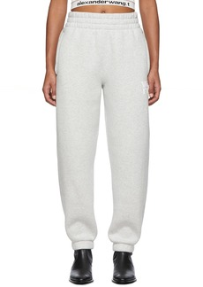 T by Alexander Wang Grey Dense Fleece Lounge Pants