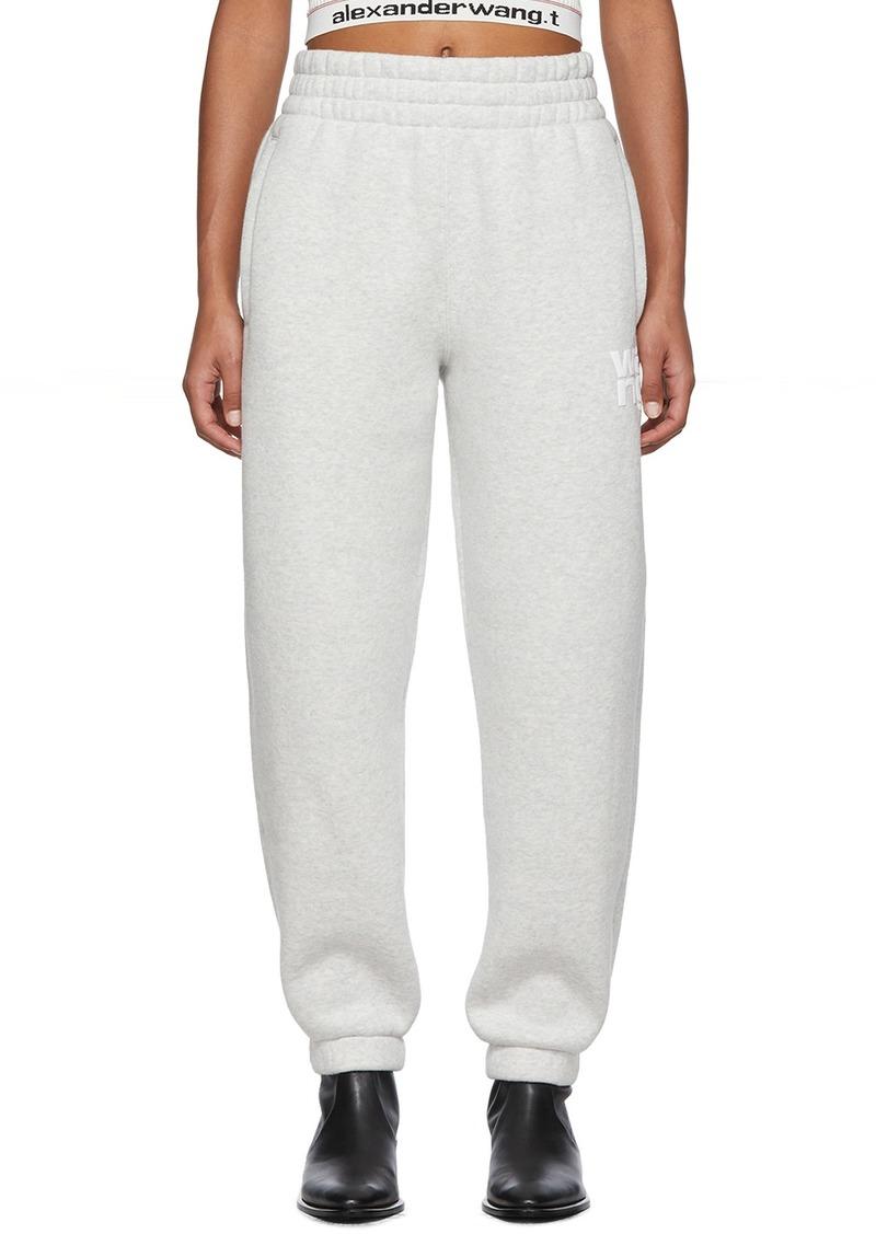 T by Alexander Wang Grey Dense Fleece Lounge Pants
