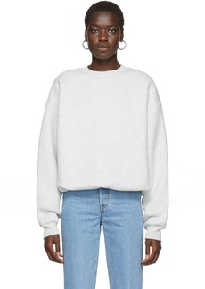 T by Alexander Wang Grey Fleece Bubble Sweatshirt
