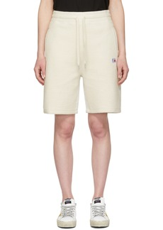 T by Alexander Wang Grey Heavy Terry Basketball Shorts