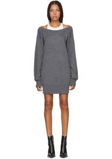 T by Alexander Wang Grey Inner Tank Knit Dress