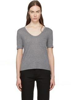 T by Alexander Wang Grey Jersey Classic T-Shirt