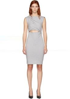 T by Alexander Wang Grey Shoulder Twist Dress