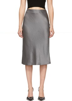 T by Alexander Wang Grey Wash & Go Skirt