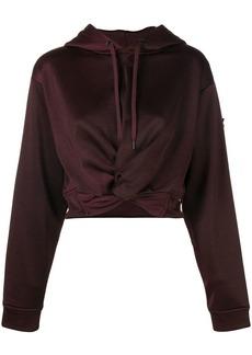 T by Alexander Wang hem knot hoodie