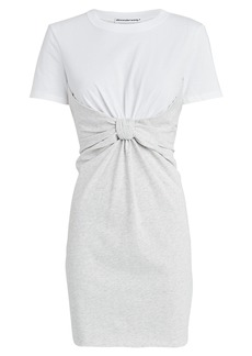 T by Alexander Wang High Twist Combo T-Shirt Dress
