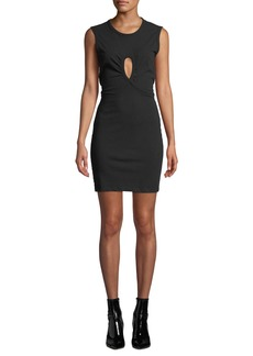 T by Alexander Wang High Twist Jersey Dress with Keyhole Detail