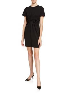 T by Alexander Wang High Twist Jersey Knotted Dress
