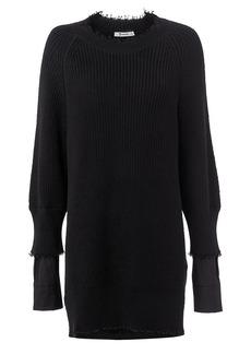 T by Alexander Wang Hybrid Meets Varsity Sweater Poplin Dress