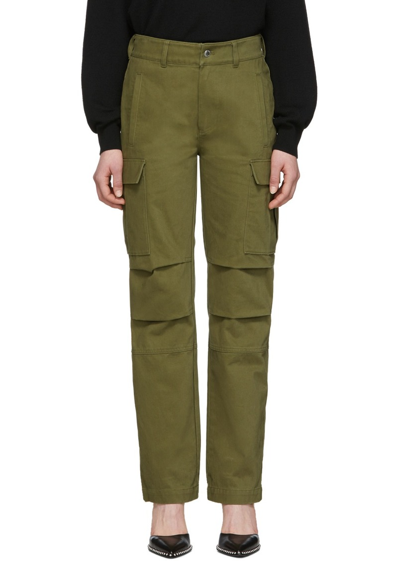 T by Alexander Wang Khaki Twill Cargo Trousers