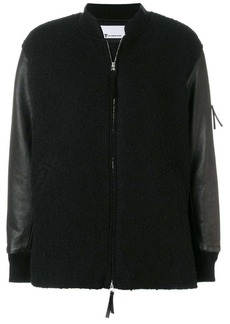 T by Alexander Wang knitted bomber jacket