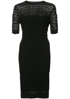 T by Alexander Wang laser cut dress