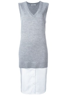 T by Alexander Wang layered knit top
