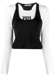 T by Alexander Wang layered logo top