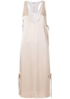 T by Alexander Wang layered satin slip dress