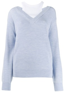 T by Alexander Wang layered sweater