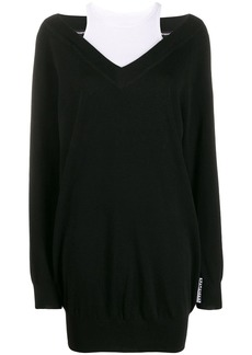 T by Alexander Wang layered sweater dress