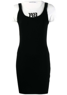 T by Alexander Wang layered T-shirt dress