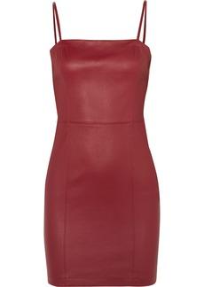 T by Alexander Wang Leather Mini Dress