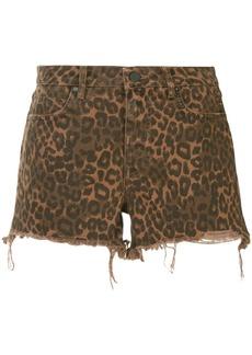 T by Alexander Wang leopard print shorts
