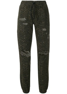 T by Alexander Wang leopard printed jogger trousers