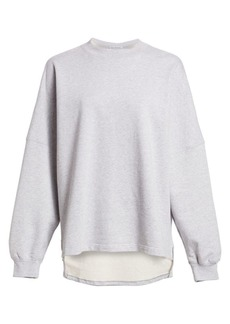 T by Alexander Wang Logo Back Crewneck Sweatshirt