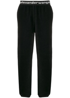 T by Alexander Wang logo band corduroy trousers