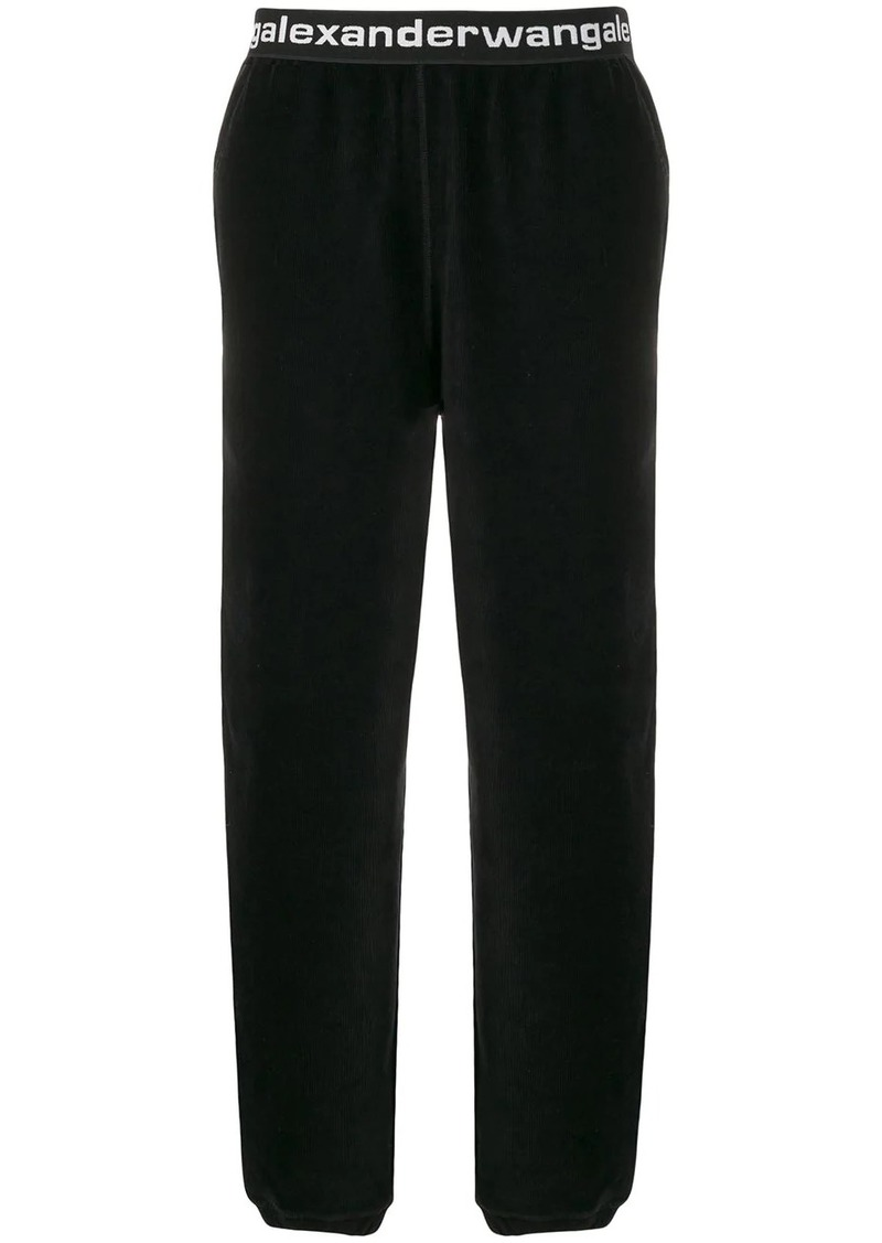 Alexander Wang logo band corduroy trousers