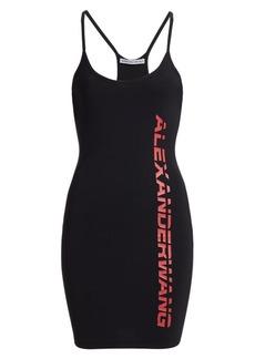 T by Alexander Wang Logo Bodycon Mini Dress