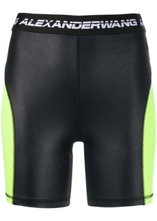 T by Alexander Wang logo cycling shorts