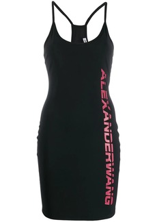T by Alexander Wang logo print cami dress