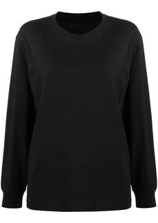T by Alexander Wang logo-print crew neck sweatshirt