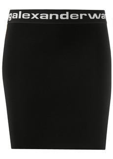 Alexander Wang logo print high-waisted skirt