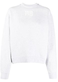 T by Alexander Wang logo print sweater